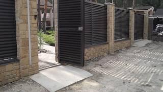 видео Деревянный забор – комплексное решение