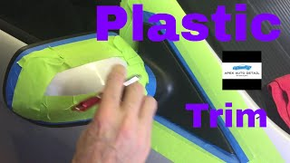 How to restore plastic trim like a PRO!!!  With Black Pearl trim and tire armour!!