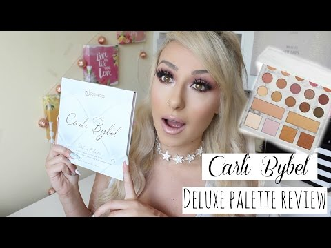 NEW BH Cosmetics Carli Bybel deluxe Palette Tutorial and Swatches, is it worth it?   DramaticMAC