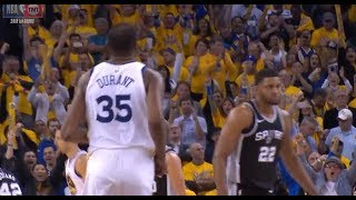 Kevin Durant Sinks The Cold-Blooded Dagger VS Spurs (Ended The Series!)