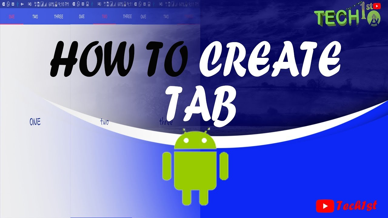 How To Create Tab In Android Tablayout Viewpager Youtube