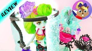 """Monster High """"Lagoona blue"""" koupelna se sprchovým koutem   Vybalení"""