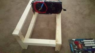 HD--Step by step How to build homemade Gpu Mining stand for $5 (EASY)