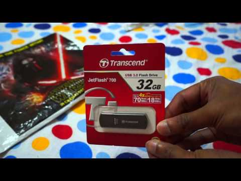 Transcend 32GB JetFlash 700 Super Speed USB 3 0 Pen Drive Black