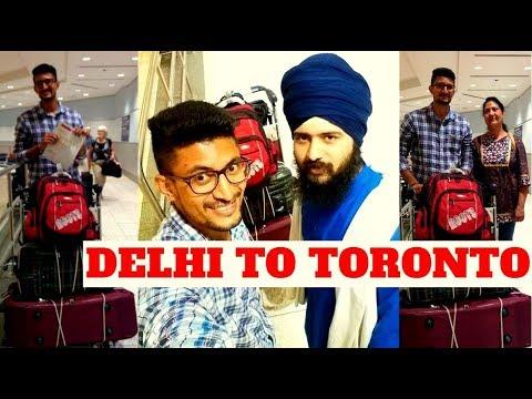 VLOG Delhi To Toronto Air Canada 2018 (INDIA To CANADA Flight Journey)