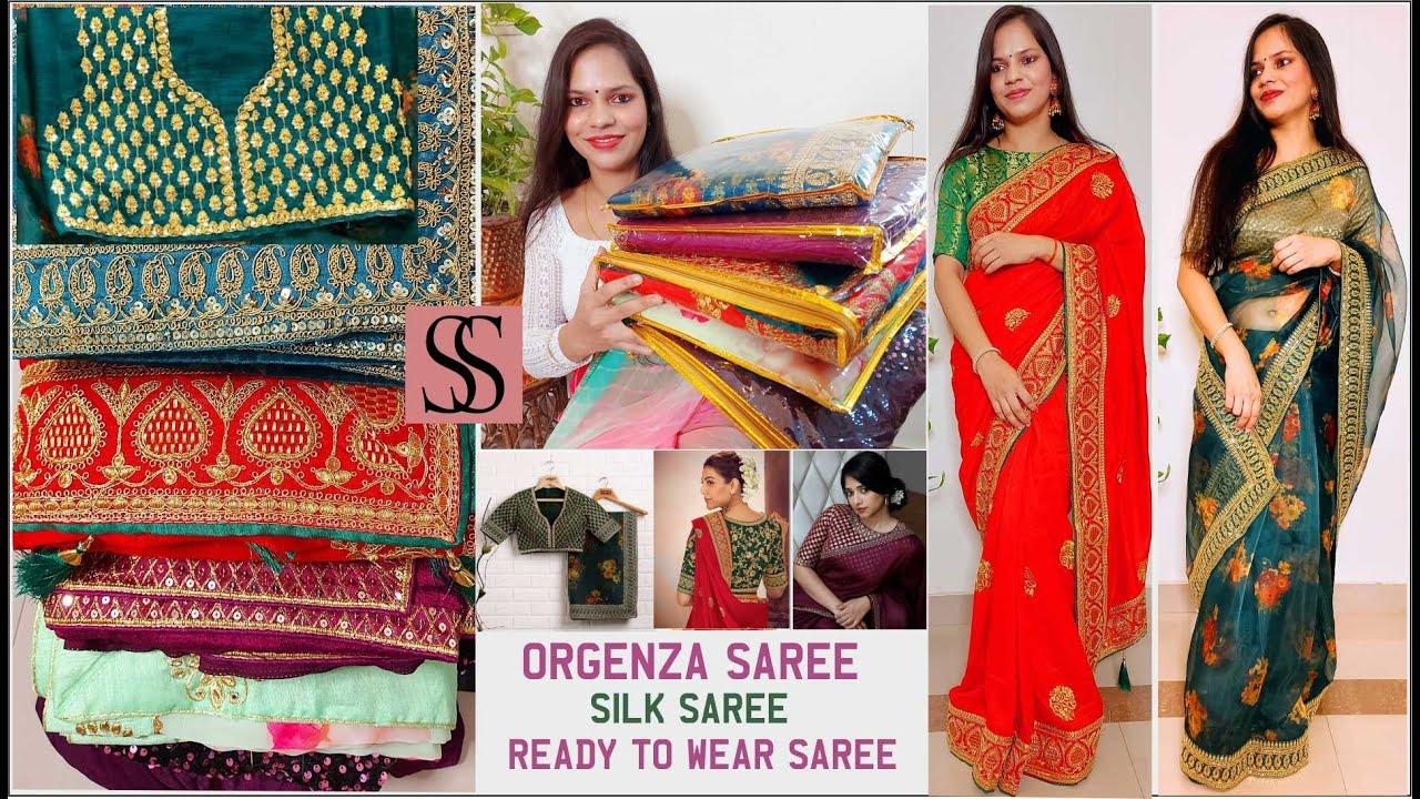 Festive Wear Saree Haul || Rakshabandhan Special Saree haul Collection🥻SastaSaree.com