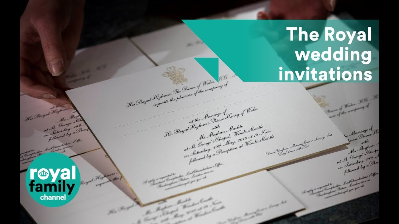 Royal wedding invitations carefully crafted in workshop YouTube