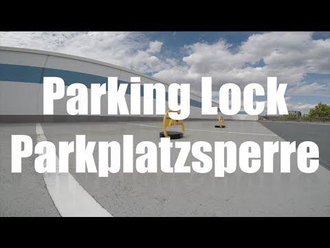 Parkplatzb/ügel SOLAR L mit 2 Fernbedienungen Gr/össe L 80030035 Parkplatzsperre