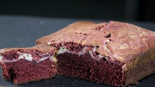 Red Velvet Cheese Cake Brownie  Sanjeev Kapoor Khazana