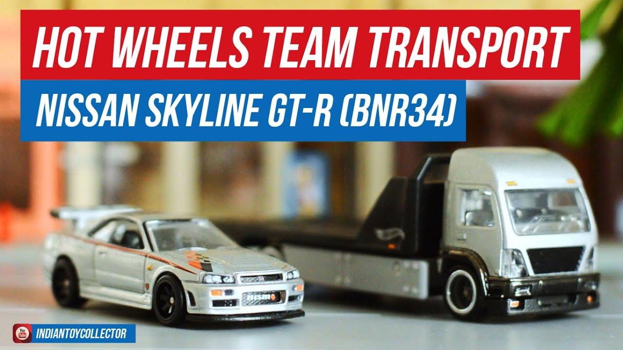 Hot Wheels Team Transport Nissan Skyline GT-R (BNR34) & Aero Lift