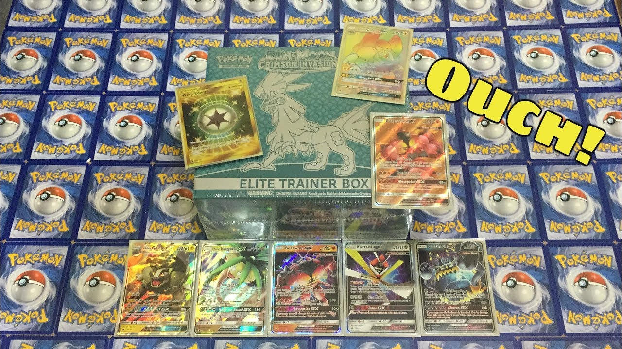 New Pokemon Sun /& Moon Crimson  Invasion Elite Trainer Box Pokemon