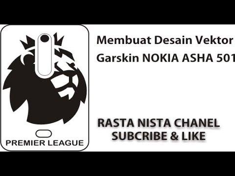 Cara Mudah Membuat Desain Vektor Garskin HP NOKIA ASHA 501