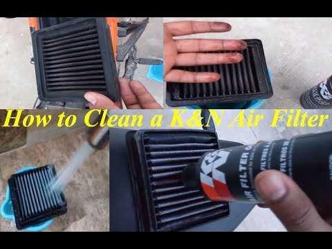 KTM - K&N Air Filter Cleaning for more Performance