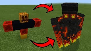 How To Spawn a GIANT MAGMA GOLEM in Minecraft PE | MCPE Journalist