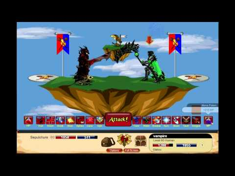 DragonFable: DoomKnight skills/ownage by cellwillrocku