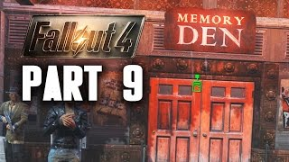 Fallout 4 Walkthrough Part 9 - MEMORY DEN (PC Gameplay 60FPS)
