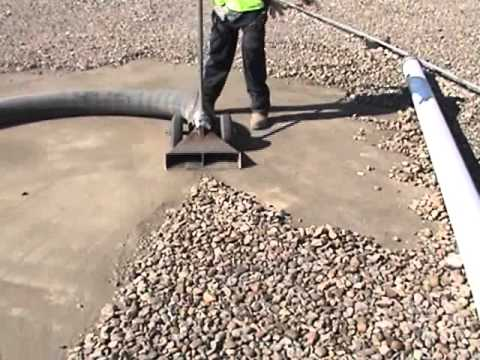 Sunbelt Vacuum Roof Vacuuming Ballast Removal Youtube