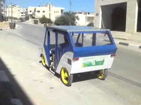 Solar car made in palestine