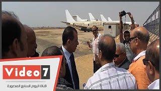 رئيس ميناء القاهرة الجوى يتفقد مهبط الطائرات
