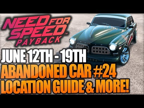Need For Speed Payback Abandoned Car #24 - Location Guide + Gameplay - VOLVO AMAZON P130! (RACE)
