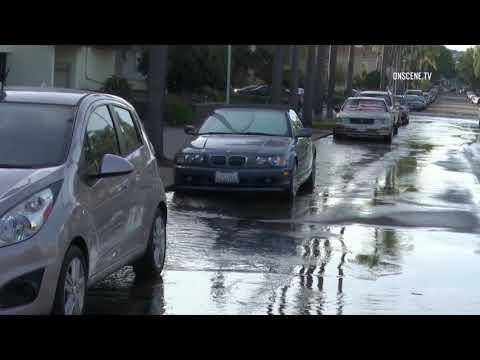 San Diego: Water Main Break in Hillcrest 11232018