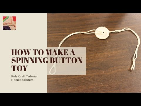 Spinning Button Toy - How to Make a Button Thread Spinner