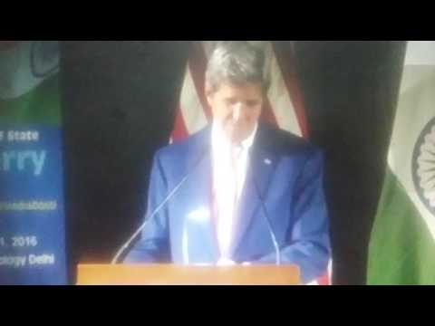 You must have needed boats: John Kerry jokes at IIT on Delhi rain