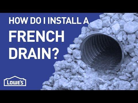 How Do I Create a French Drain?   DIY Basics
