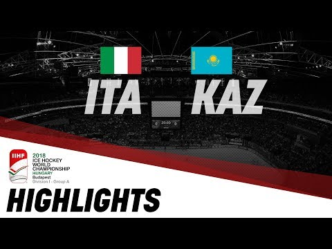 Italy-Kazakhstan | Highlights | 2018 IIHF Ice Hockey World Championship Division I Group A