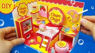 DIY Miniature Dollhouse - Chupa Chups candy room decor ! Lollipop pop!!