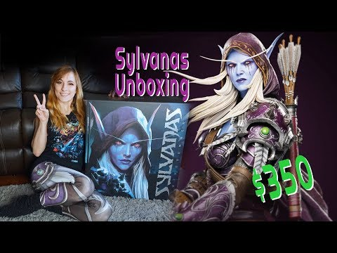 HUGE $350 Sylvanas World Of Warcraft Statue Unboxing!!