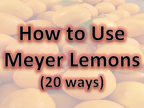 How To Use Meyer Lemons
