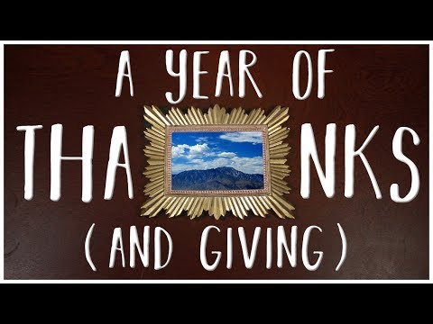 A Year of Thanks (and Giving)