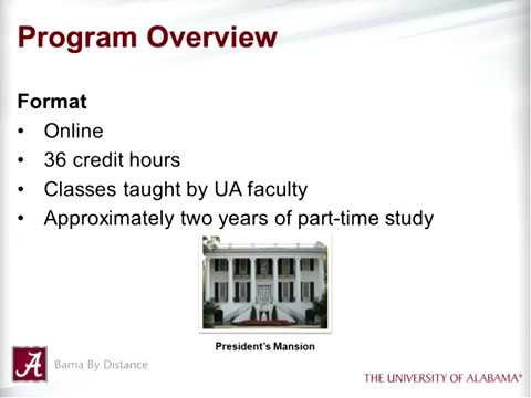 UA's MA in Higher Education Administration
