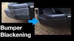 How to Blacken Car Bumpers - A Surprisingly Good Way