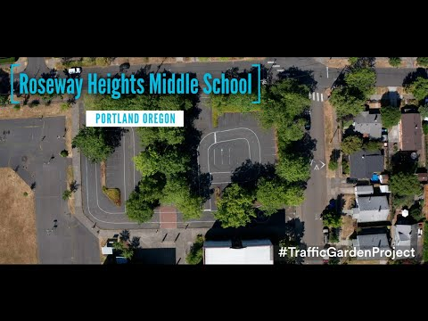 Roseway Heights Middle School Traffic Garden