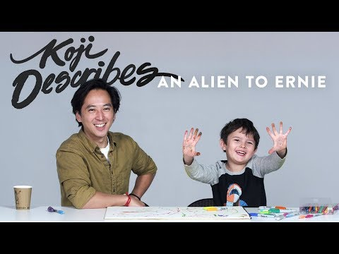 Koji Describes an Alien to Ernie the Illustrator | Kids Describe | HiHo Kids