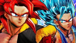 NEW SSJ4 GOGETA IN JUMP FORCE! Super Saiyan 4 Gogeta Vs SSGSS Vegito Blue Gameplay Mod