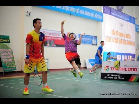 Vòng 3 giải cầu lông C&C Hưng Yên 2015: Anh/ Triệu (Flypower) vs Minh/ Minh (YBC)
