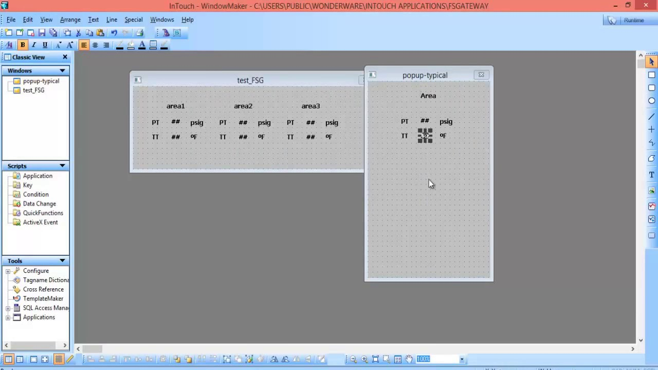 Intouch wonderware indirect tag to minimalize windows count