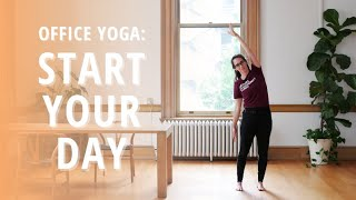 Office Yoga: Start Your Day | Wild in Tacoma at The Pioneer Collective | Yoga Wild