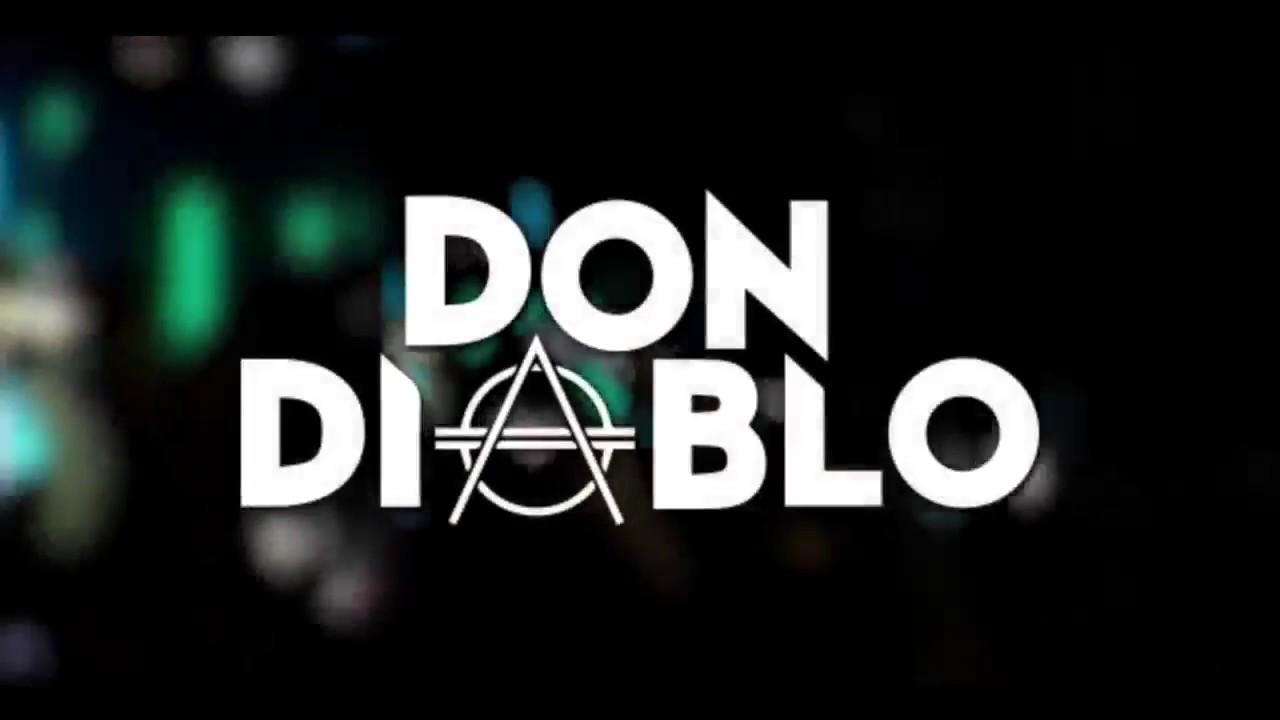 98 Official Don Diablo Flag White With Black Logo Hexagon Don