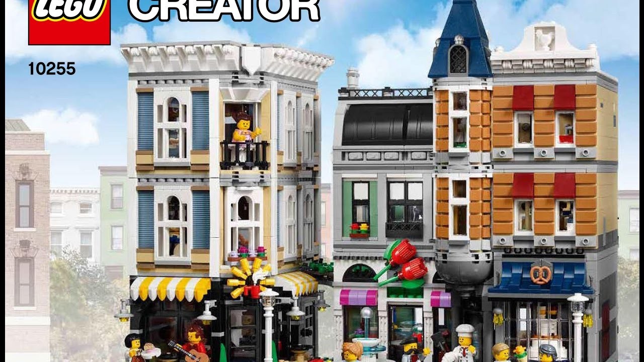 Lego Creator 10255 Assembly Square Creator Modular Instructions Diy