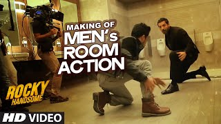 MAKING OF MEN's ROOM ACTION | Rocky Handsome | John Abraham, Nishikant Kamat | T-Series