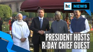 'At Home' Reception: PM Modi, Jair Bolsonaro hosted by President Kovind