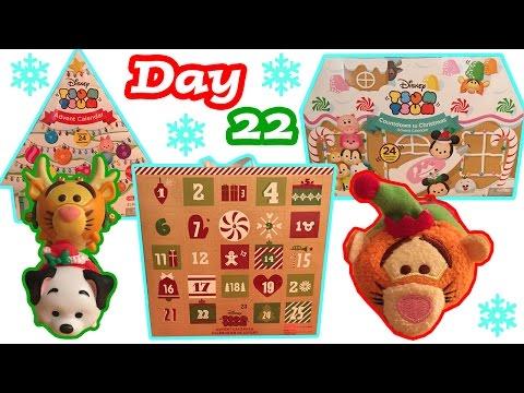 Tsum Tsum Advent Calendar Craze DAY 22 Christmas Holiday Tsum Tsum Plush + Figure Toy Surprises
