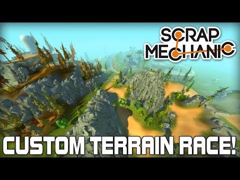 Custom Terrain Multiplayer Racing! (Scrap Mechanic #165)