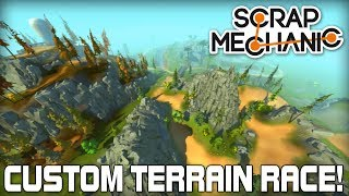 Custom Terrain Multiplayer Racing! (Scrap Mechanic #165)