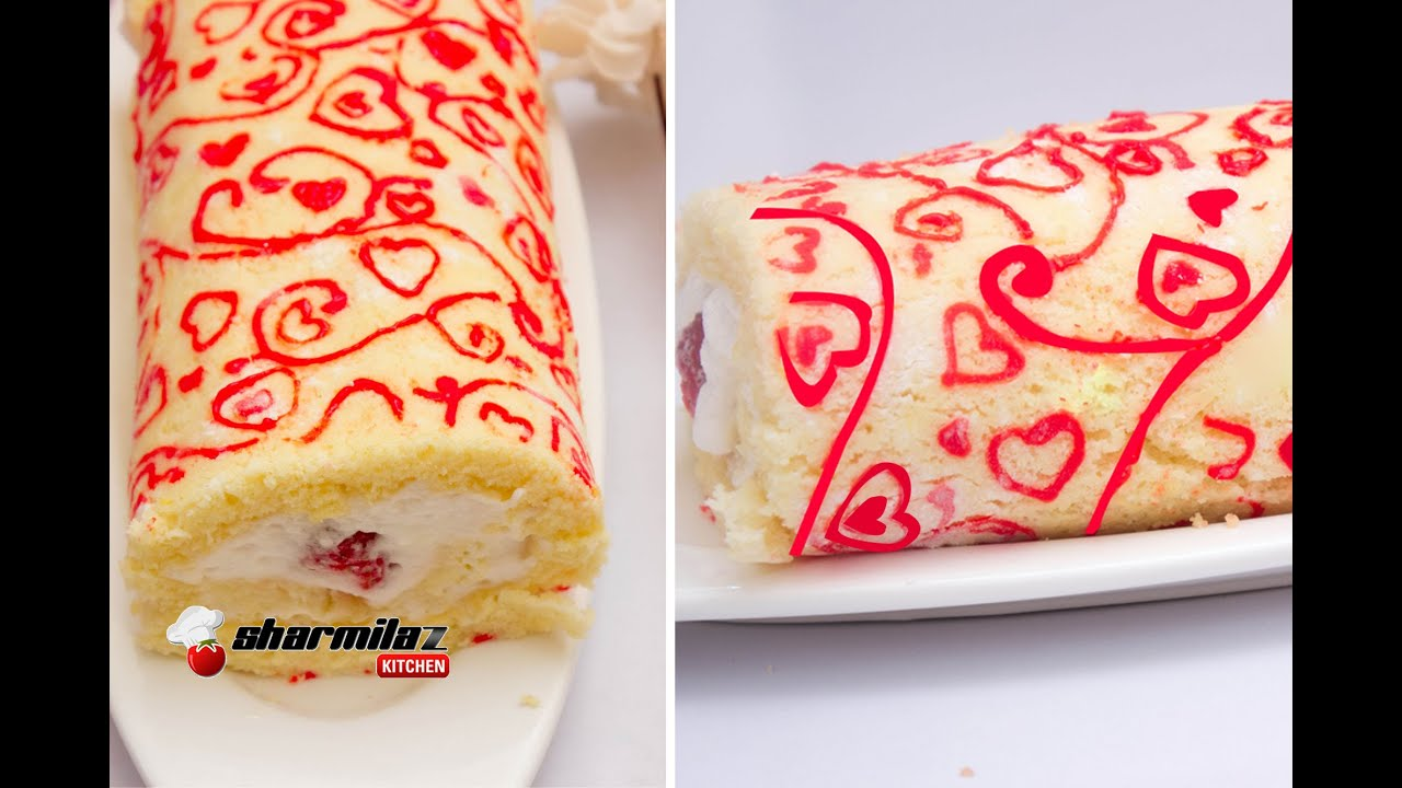 Roll Cake Design Template : Patterned Swiss Roll Cake Japanese Deco Roll Cake ...