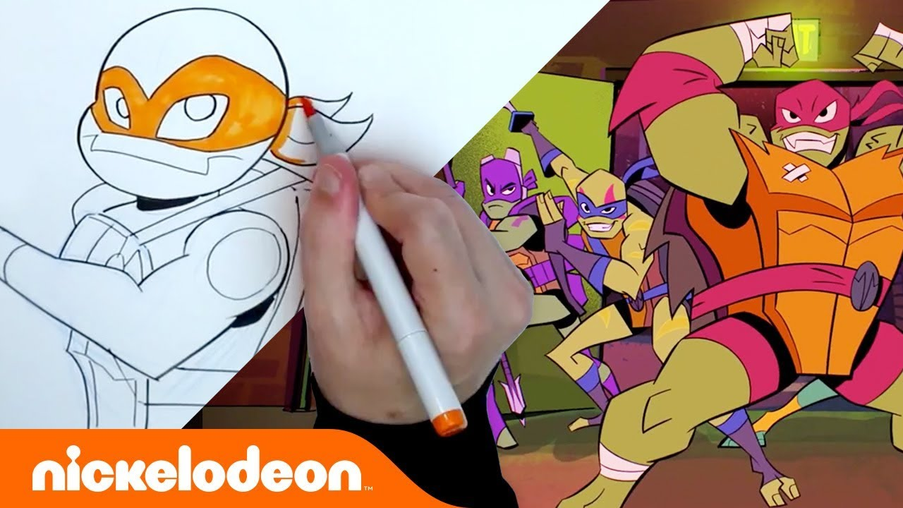 How to Draw ✏️ Rise of the Teenage Mutant Ninja Turtles | #TurtlesTuesday